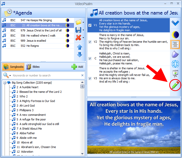 VideoPsalm - Free Worship Presentation Software - Compatible with